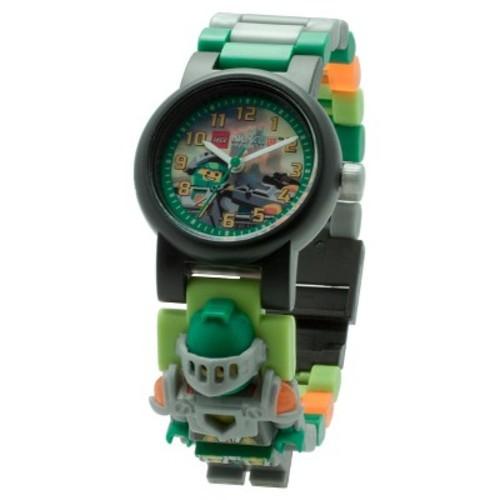 LEGO Nexo Knights Aaron Kids Interchangeable Links Minifigure Watch - Green