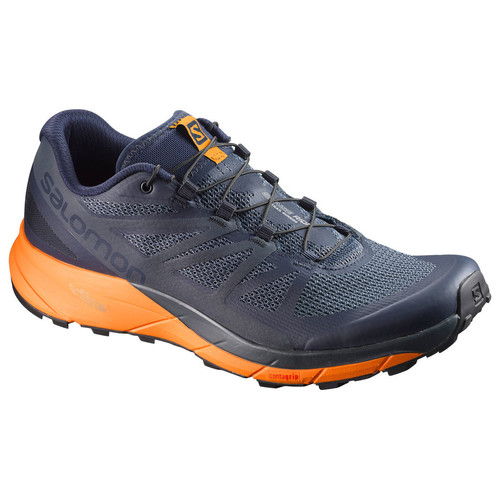 SALOMON Mens Sense Ride Trail Running Shoes, Navy Blazer/Marig