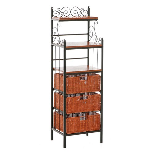 Southern Enterprises Manilla Black Baker's Rack