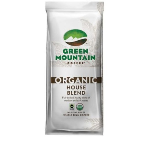 Green Mountain Coffee Organic House Blend Whole Bean Bagged Coffee