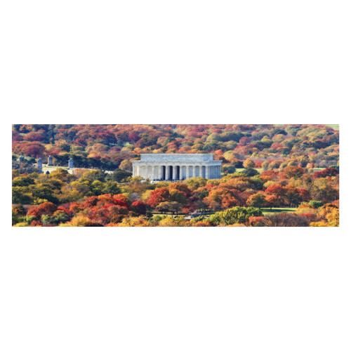 Trademark Global Gregory O'Hanlon 'Lincoln Memorial' Canvas Art [Overall Dimensions : 12x32]