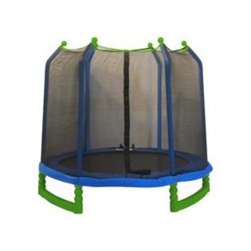 King Service Holdings Inc Upper Bounce UBSF01-7 Upper Bounce 7 ft. Indoor-Outdoor Classic Trampoline & Enclosure Set