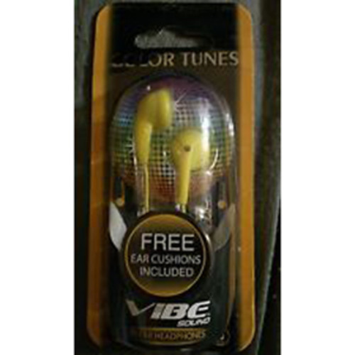 Vibe VS-120 Stereo Earbuds - Yellow