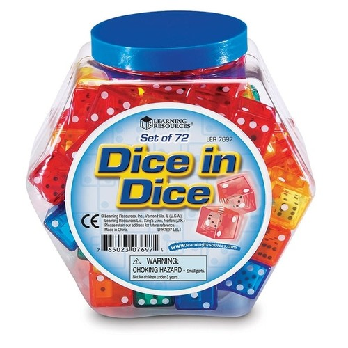 Learning Resources Learning & Educational Toys Dice In Dice Bucket Set Of 72