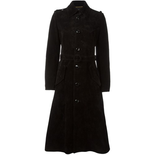 SAINT LAURENT Buttoned Long Coat