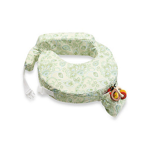 My Brest Friend Travel Nursing Pillow in Green Paisley