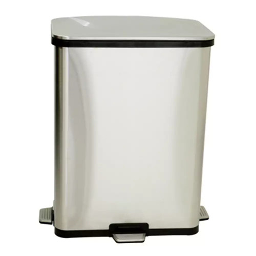 iTouchless 13-gallon Stainless Steel Step Sensor Trash Can