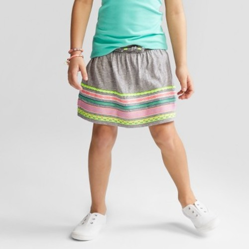 Girls' Scooter - Cat & Jack Neon Trim Gray