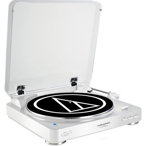 Audio Technica AT-LP60WH-BT Fully Automatic Bluetooth Wireless Belt-Drive Stereo Turntable, White [White, AT-LP60 Bluetooth]