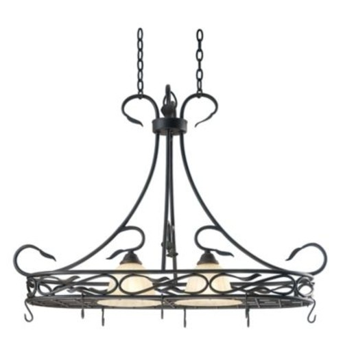 Kenroy Home Countryside 2-Light Pot Rack in Bronze