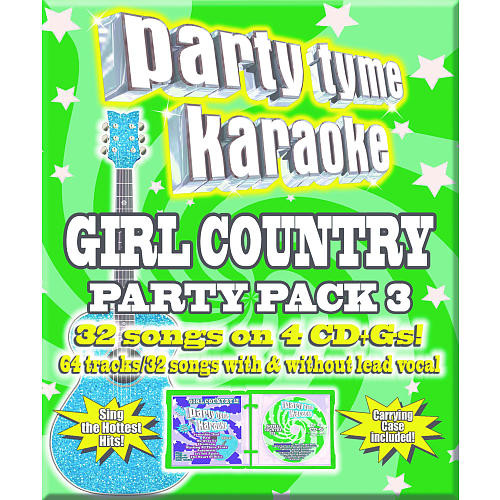 Party Tyme Karaoke: Girl Country Party Pack 3 (CD/Gs)