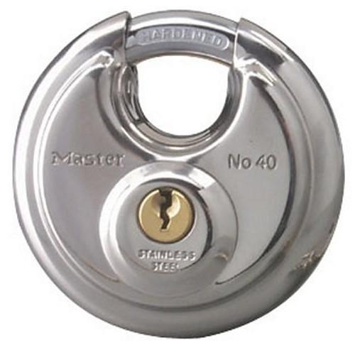 Master Lock Padlock, Stainless Steel Discus Lock, 2-3/4 in. Wide, 40DPF [1-Pack]