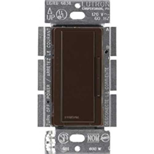 Lutron Maestro C.L Dimmer Switch for Dimmable LED, Halogen & Incandescent Bulbs, Single-Pole or Multi-Location, MACL-153M-BR, Brown [Brown]
