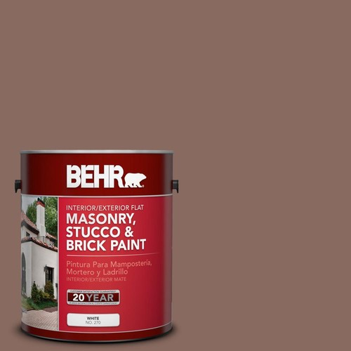 BEHR 1 gal. #N150-5 French Truffle Flat Interior/Exterior Masonry, Stucco and Brick Paint