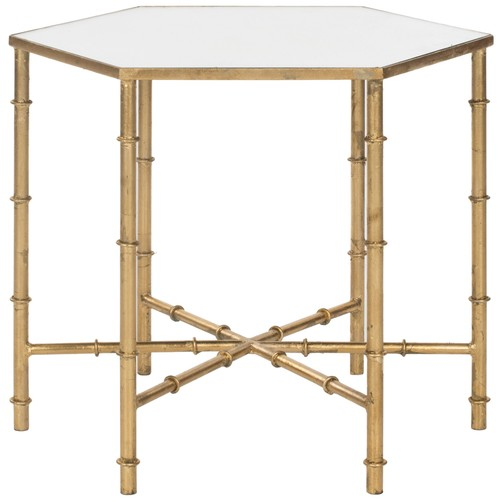 Murphy Accent Table w\/ Mirror Top design by Safavieh