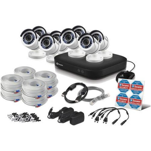 Swann 8 Channel 5MP Super HD DVR with 2TB HDD and 8x 5MP Outdoor Bullet Cameras