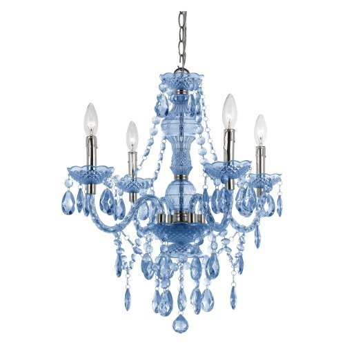 AF Lighting Naples 8352-4H Mini Chandelier - Blue