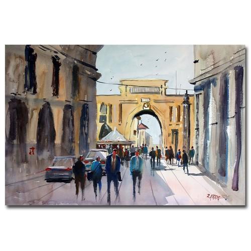 Trademark Global Ryan Radke 'Italian Impressions IV' Canvas Art [Overall Dimensions : 6x24]