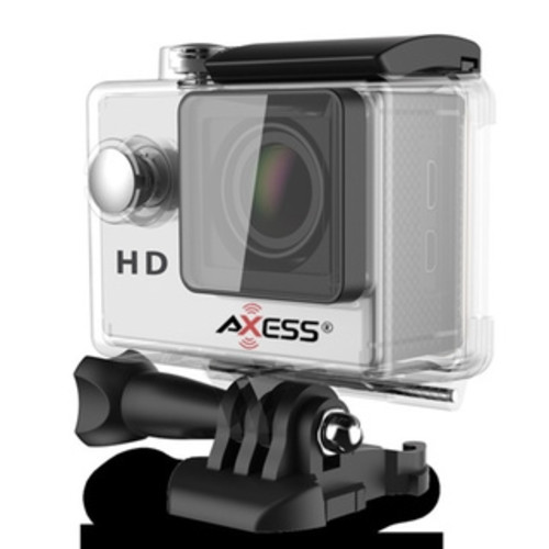 Axess 720p HD Action Camera with Waterproof Housing (Silver)