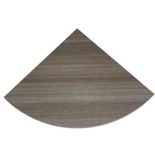 Dolle 12 in. x 12 in. x 3/4 in. Driftwood Lite Corner Shelf