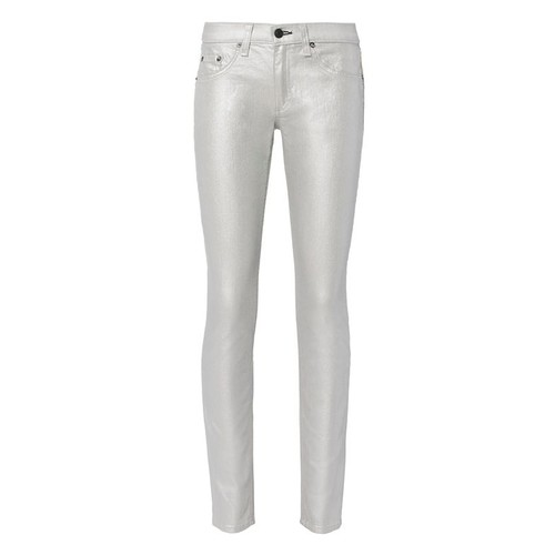 RAG & BONE /Jean Coated Metallic Skinny Jeans