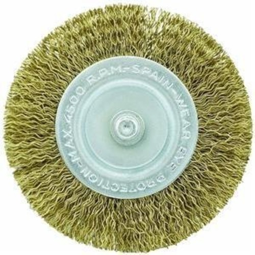 Vermont American 16788 2-Inch Fine Brass Wire Wheel Brush with 1/4-Inch Hex Shank for Drill