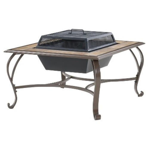 Cambridge 38 in. Wood-Burning Fire Pit Coffee Table