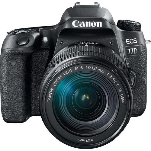 Canon - EOS 77D DSLR Camera with EF-S 18-135mm IS USM Lens - Black