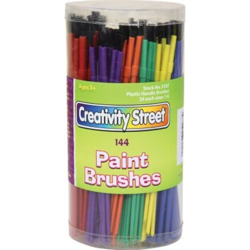 Chenille Kraft Plastic Handle Brushes in Canister, 144/Pack (CK-5187)