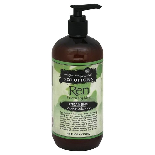 Renpure Solutions Conditioner, Cleansing, Ren Rosemary Mint - 16 fl oz