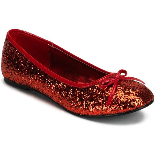 Women's Red Glitter Star Flat Halloween Accessory - Adult Size