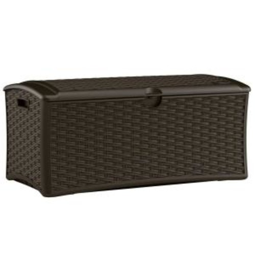 Suncast 72 Gal. Resin Wicker Deck Box