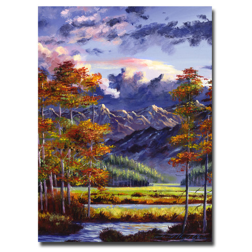 Trademark Global David Lloyd Glover 'Mountain River Valley' Canvas Art [Overall Dimensions : 18x24]
