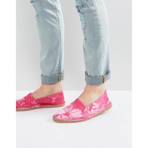 ASOS Canvas Espadrilles In Pink Tie Dye