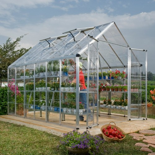 Snap and Grow 8' x 12' Silver Frame Hobby Greenhouse