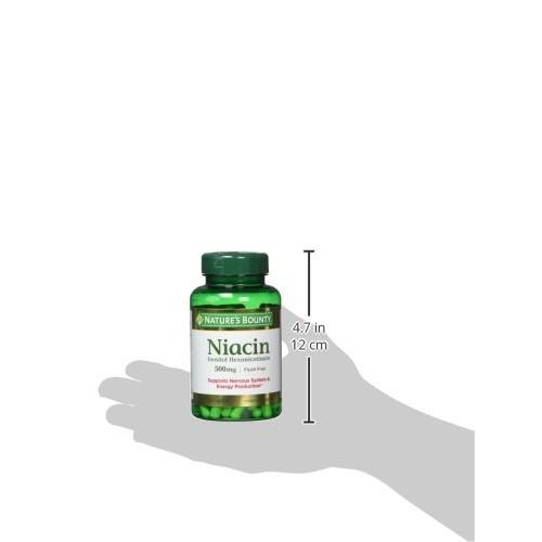 Nature's Bounty Niacin Flush Free 500 mg, 120 Capsules [120 Counts]