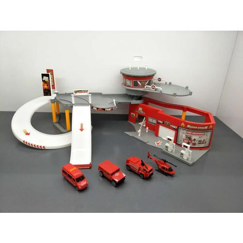 Just Kidz Rescue Station Playset and Parking Garage