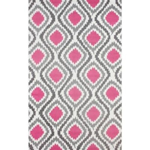 nuLOOM Matthieu Pink 8 ft. 6 in. x 11 ft. 6 in. Area Rug