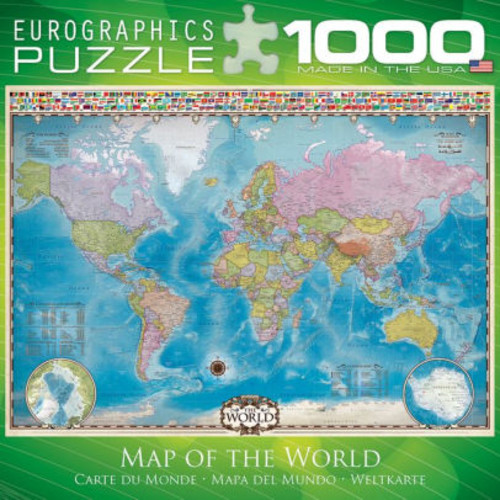 World Map 1000 pc Puzzle