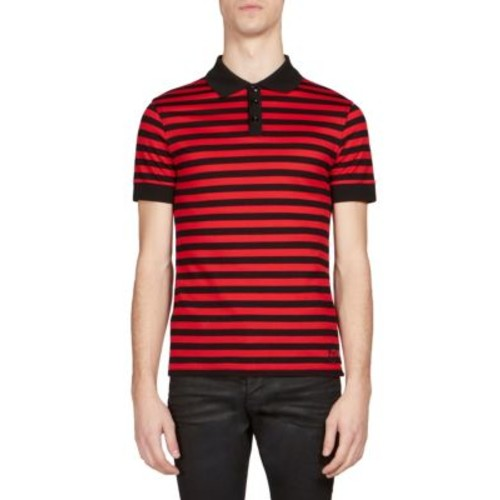 SAINT LAURENT Medium Striped Polo