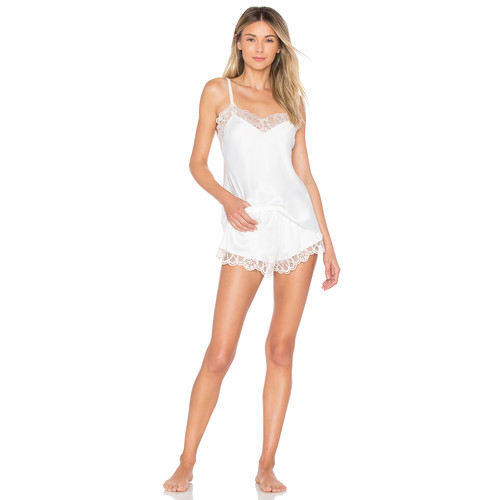 Flora Nikrooz Gabby Charmeuse Cami & Tap in Ivory