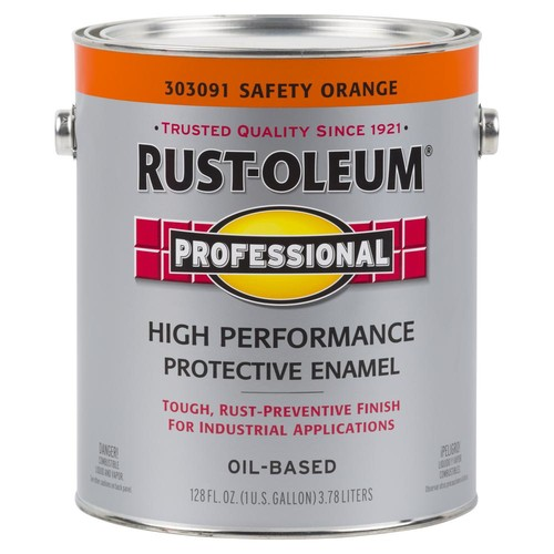 Rust-Oleum Professional 1 gal. Safety Orange Gloss Protective Enamel Paint (Case of 2)