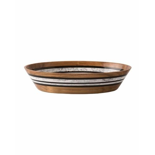 Stonewood Stripe Oval Serving Bowl