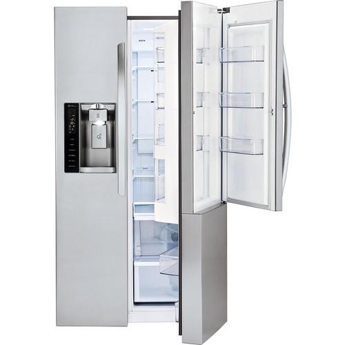 LG - Door-in-Door 26.0 Cu. Ft. Side-by-Side Refrigerator with Thru-the-Door Ice and Water - Stainless steel