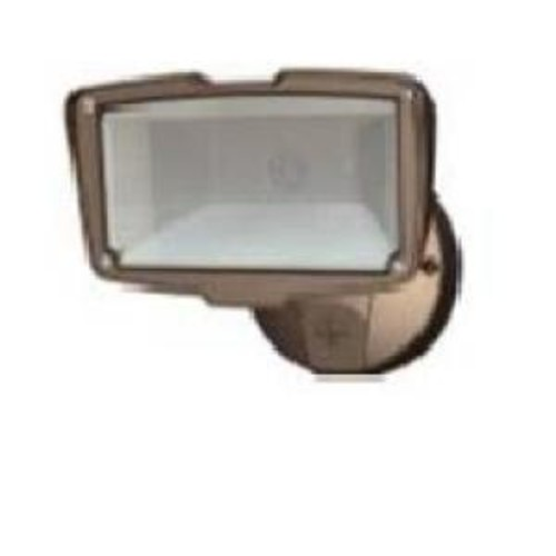 All-Pro Bronze Outdoor Integrated LED Large Single-Head Security Flood Light with 1900 Lumens and 5000K Daylight
