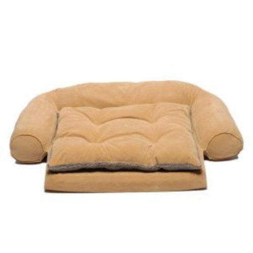 Large Ortho Sleeper Comfort Couch Pet Bed with Removable Cushion - Carmel