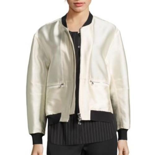 3.1 PHILLIP LIM Layered Shirttail Hem Bomber Jacket