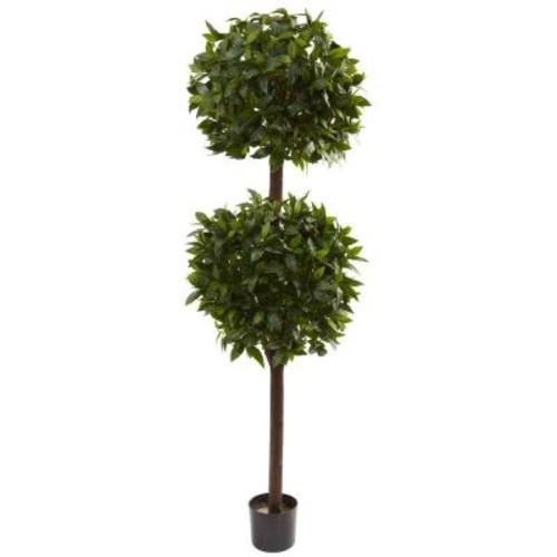 Nearly Natural 6 ft. Sweet Bay Double Ball Topiary