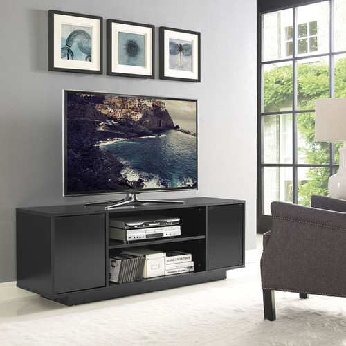 Modway TV Stands & Entertainment Centers Modway Portal Black MDF/Melamine Stand