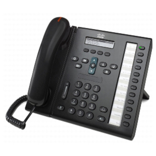 Cisco 6961 Unified IP Phone - 1 x RJ-9 Headset, 1 x RJ-45 10/100Base-TX PoE - 12Phoneline(s) - Desktop